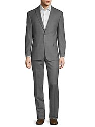 Michael Kors Two Piece Check Wool Suit Grey