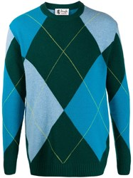 Pringle Of Scotland Argyle Knitted Jumper Green