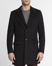 Scotch And Soda Black Classic Wool Coat
