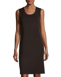 Ming Wang 40 L Knit Shift Dress Brown