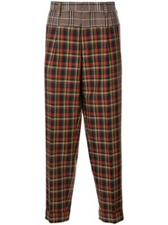 Kolor Panelled Checked Trousers 60