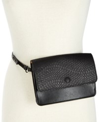 Inc International Concepts I.N.C. Smooth And Python Embossed Belt Bag Created For Macy's Black