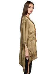 Faith Connexion Long Silk Satin Cape Top