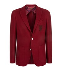 Billionaire Textured Cotton Blazer Male