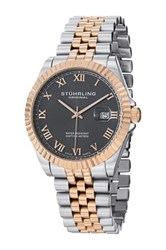 Stuhrling Men's Coronet Swiss Quartz Watch Metallic