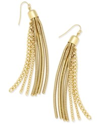 Thalia Sodi Gold Tone Chain Tassel Earrings Only At Macy's