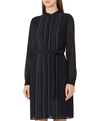 Reiss Cairn Stitched Shirt Dress Black