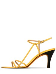 Maryam Nassir Zadeh 95Mm Irene Patent Leather Sandals Yellow