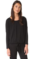 Eberjey Heather Slouchy Tee Black