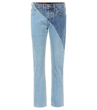 Vetements X Levi's Reworked High Waisted Jeans Blue