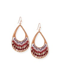 Crystal Wire Teardrop Earrings Red Purple Red Multi Nakamol