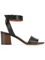 Givenchy 'Paris' Ankle Strap Sandals Black