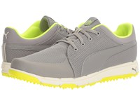 Puma Grip Sport Drizzle Safety Yellow Men's Golf Shoes Gray