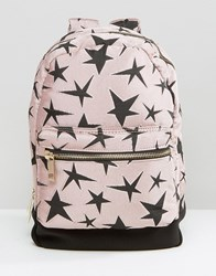 Asos Lifestyle Canvas And Scuba Star Backpack Multi