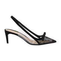 Red Valentino Bow High Heels Nero Transparente