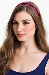 L. Erickson Double Skinny Headband Pink Passion Pink