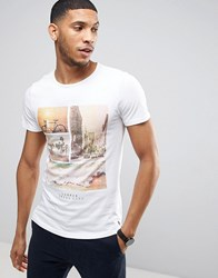 Casual Friday T Shirt With California Print White