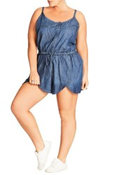City Chic Plus Size Women's Chambray Romper