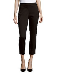 Theory Tonerma Sateen Zip Pants Black