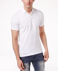 Inc International Concepts Men's Gel Striped Polo Only At Macy's White