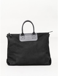 Bedford Tote In Black Nubuck By Graf And Lantz Oak