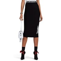 Off White C O Virgil Abloh Logo Print Jersey Skirt Black