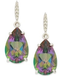 Macy's Mystic Topaz 8 1 2 Ct. Tw. And Diamond Accent Drop Earrings In Sterling Silver