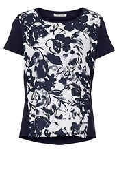 Betty Barclay Floral Print Top Cream