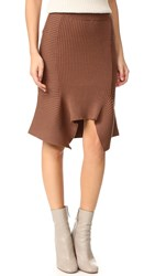 Designers Remix Ribly Flared Skirt Dusty Brown