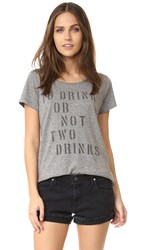 Sol Angeles Two Drinks Tee Heather