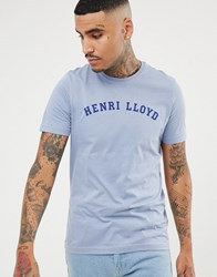 Henri Lloyd Ragian Logo T Shirt In Grey