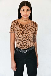 Truly Madly Deeply Marnie Leopard Tee Tan