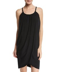 Magicsuit Draped Coverup Dress Black Plus Size