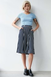 Silence And Noise Silence Noise Andy Midi Skirt Blue Multi