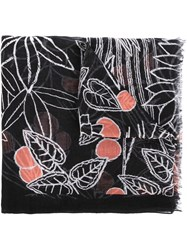 Paul Smith Printed Scarf Black