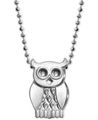 Alex Woo Owl Pendant Necklace In Sterling Silver