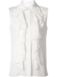 Chloe Chloe Sleeveless Ruffle Shirt White