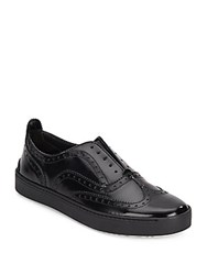Rag And Bone Meli Leather Wingtip Sneakers Black