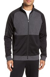 Zella Tech Track Jacket Black Grey Colorblock