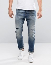 Selected Jeans Anti Fit In Light Blue Blue