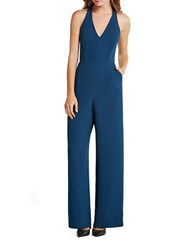 Bcbgeneration Solid Wide Leg Sleeveless Jumpsuit Stormy Sea