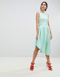 True Violet High Low Volume Dress With Bow Green