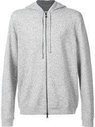 Vince Classic Zipped Hoodie Grey