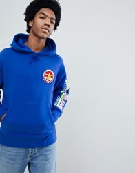 Tommy Jeans 90S Sailing Capsule Back And Sleeve Logo Hoodie In Bright Blue Surf The Web