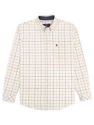 Joules Wilby Oxford Check Shirt Cream Multi Check