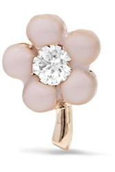 Alison Lou Tiny Flower 14 Karat Gold Pink