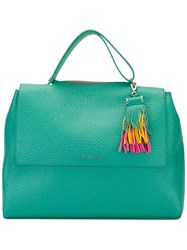 Orciani Fringed Detail Tote Green