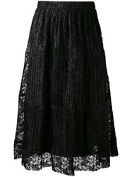 See By Chloe Pleated Skirt Women Polyester Viscose 40 Black