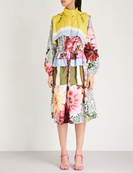 Mary Katrantzou Printed Shell Parka Coat Paint By Numbers Pink