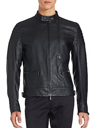 Porsche Design Sport New Motocross Leather Jacket Black